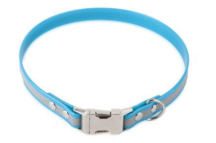 Firedog BioThane Halsband Clip Reflekt 25 mm 44 cm türkis