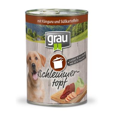 Grau Schlemmertopf Känguru und Süßkartoffeln 400 g