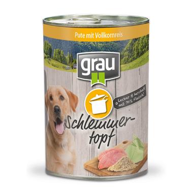 Grau Schlemmertopf Pute mit Vollkornreis 400 g